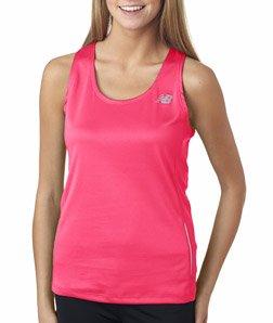 New Balance Tempo Ladies Running Singlet_Safety Pink_Medium