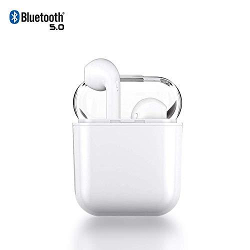 Auriculares Bluetooth Auriculares inalámbricos 5.0 Auriculares Bluetooth en Oreja Auricular Estéreo inalámbrico en Oreja Manos Libres para Apple Airpods Android/iPhones.