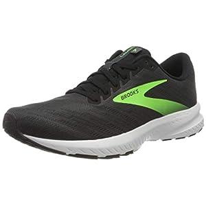 Brooks Men's Launch 7 Running Shoe, Ebony/Black/Geck, 7 UK ( 41 EU )