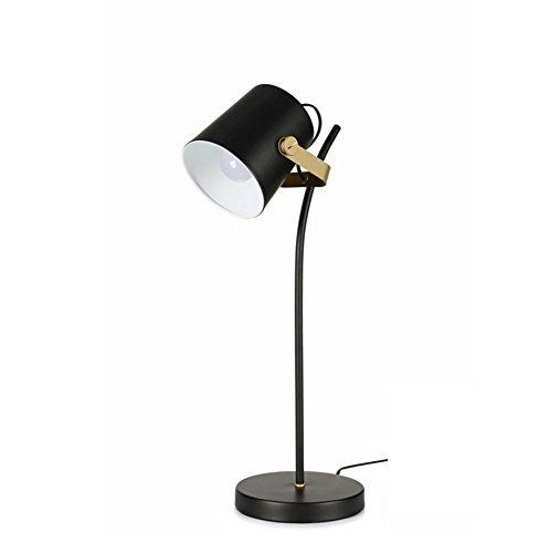 XIHAB Moderne Schreibtisch-Licht-Eisen-Kunst-Schwarz-Klammer-Augen-Schutz-Lampe Modernes Lernen Nachttisch Dimmable LED Lampe Und Stehlampen,B (Sc-konsolen)