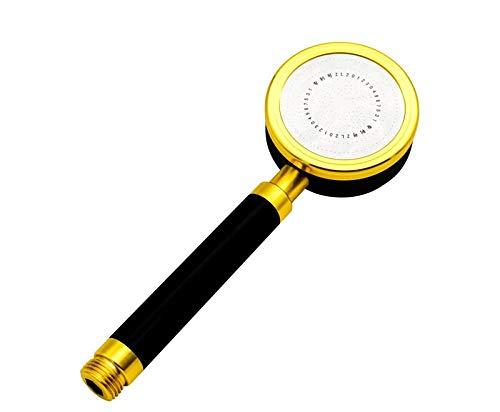 Universal Wassersparen Duschkopf,Gefilterter aufgeladener Handbrausekopf großer Wasser-Starkdruckhauptbadezimmer-Duschkopf, schwarzes Gold, Dusche