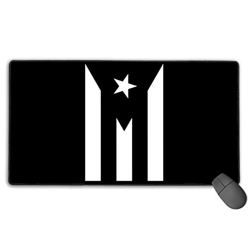 Large Gaming Mouse Pad/Mat, Puerto Rico Resiste Boricua Flag Se Levanta Mousepad with Non-Slip Rubber Base for Computers Laptop, Durable Stitched Edges Fashion7 ()
