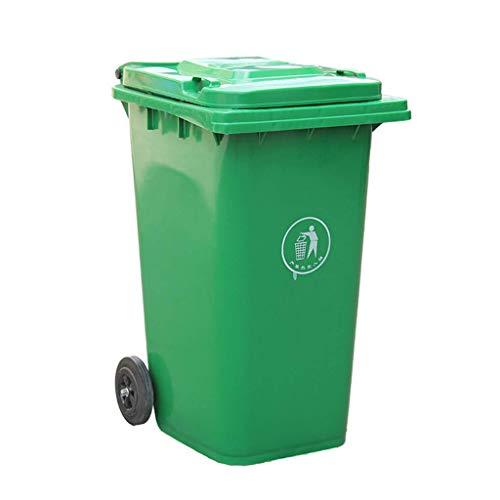 Recycling-kunststoff-square (Cxmm Kunststoff Mülleimer im Freien, 80L / 100L / 120L Mülleimer auf Rädern mit Deckel Street Square Factory Park Mülleimer Recycling (Größe: 46 * 53 * 94CM))