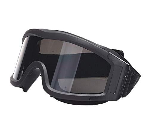 DOLOVE Brille Motorrad Nacht Sportbrille Retro Schutzbrille Winddicht Unisex Schutzbrille Winddicht Sonnenbrille Damen Schwarz