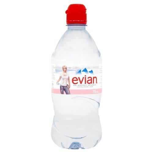 Evian Natürliches Mineralwasser 750ml Sportkappe (Packung mit 12 x 75cl)