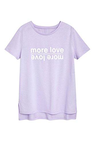 next Donna T-Shirt Pastello con Scritta Grafica Lilla