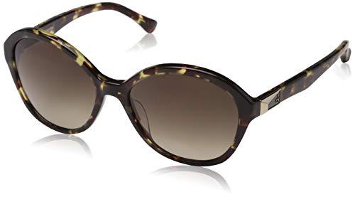 Calvin Klein Damen Cat Eye Sonnenbrille, Braun (Havana), 56