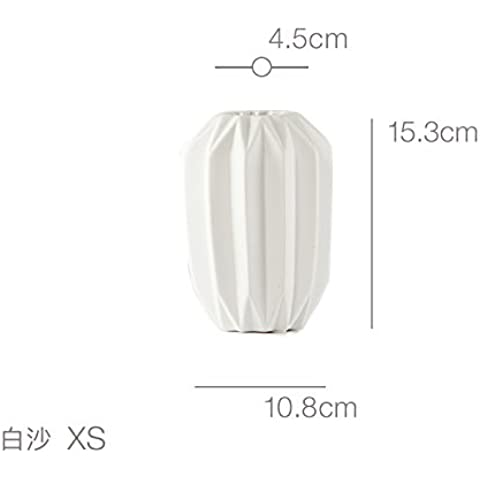 Bianco ceramica vasi in porcellana di sabbia
