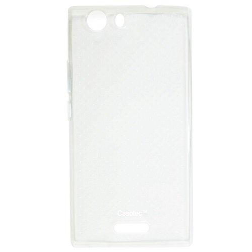 Casotec Soft Dotted TPU Back Case Cover for Micromax Canvas Nitro 2 E311 - Clear