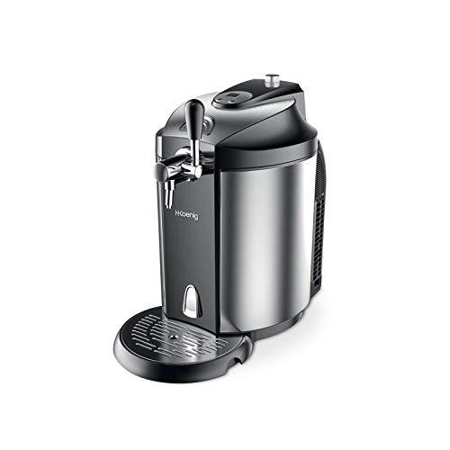 H.Koenig BW1890 Spillatrice per Fusti Universali 5L, Pressurizzati e Non-pressurizzati, Design innovativo, Temperatura Regolabile 2-12°, 65W, Nero/Grigio