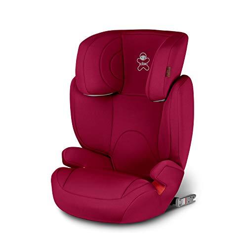 cbx Kinder-Autositz Solution 2-Fix, Gruppe 2/3 (15-36 kg), Ab ca. 3 bis ca. 12 Jahre, Für Autos mit und ohne ISOFIX, Crunchy Red