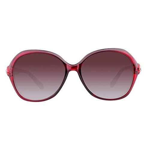 ZCmj Polarisierte Sonnenbrille Weibliche Gezeitenstern-Sonnenbrille Weibliche koreanische Version der leichten übergroßen Pilotenbrille for Frauen - verspiegelte polarisierte Linse (Color : C)