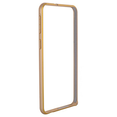 3K722 Champagne Gold Dual Colour Slim 0.7mm Aluminium Metal Bumper Frame Case Cover With Hook For HTC Desire 820(Screen guard free)