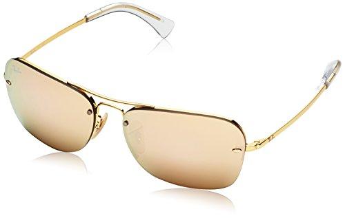 Ray Ban Unisex Sonnenbrille RB3541, (Gestell: Gold, Gläser: braun verspiegelt Kupfer 001/2Y), X-Large (Herstellergröße: 61)