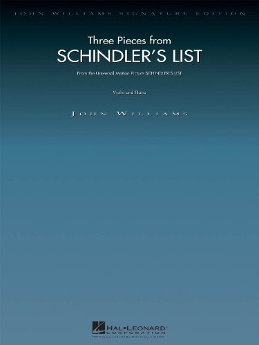 John Williams: Three Pieces from Schindler'S List (Violin/Piano): 3 Pieces for Violin and Piano