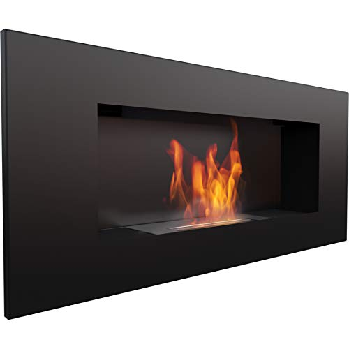 Water-Jacket Fireplace Insert Biokamin Ethanol Fireplace Decorative Wall Delta2 Black TÜV Rheinland certified