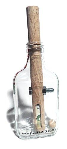 kasuro Flaschensafe Schraube - Holz-puzzle Kreis