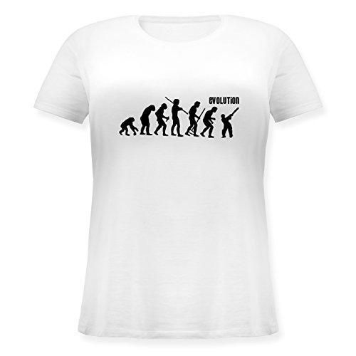 Evolution - Cricket Evolution - Lockeres Damen-Shirt in großen Größen mit Rundhalsausschnitt Weiß