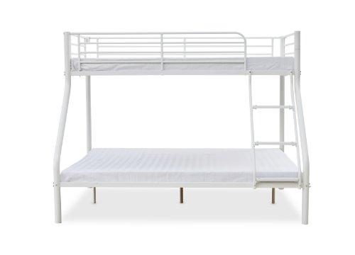 Humza Amani Palmdale Metal Triple Sleeper Bunk Bed - Single / Double, White