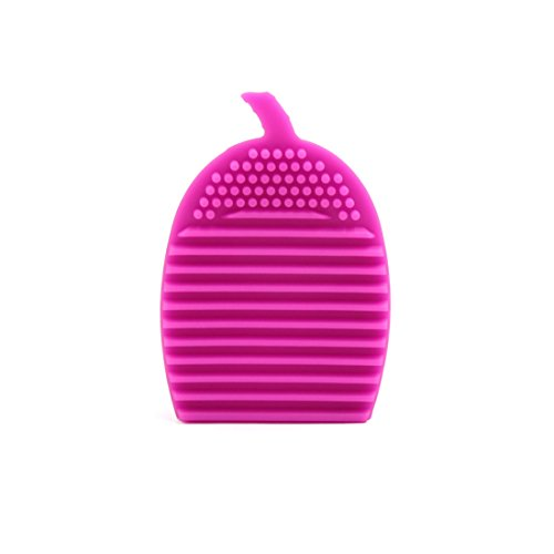 sourcingmap Forme corne Silicone Pinceau Maquillage Gant Lavage nettoyante brosse