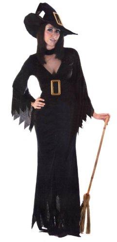 Ladies Halloween: Black Witch - Large