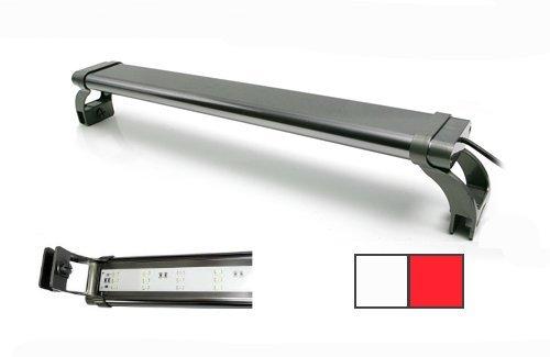 LED Lamp NL - Plafoniera a lampade LED ultra slim ad alta intensità, in varie misure e colori, con supporti scorrevoli (Bianca/Rossa, NL-90)