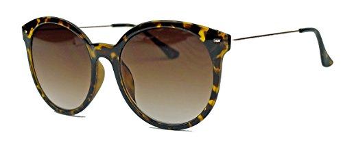 Große Sonnenbrille oder Nerd Brille im 50er 60er Vintage Look Pantobrille mit Metallbügel VN16...