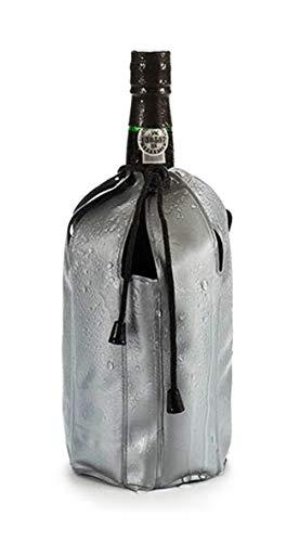 Anik-Shop Gel FLASCHENKÜHLER mit Kordel grau Champagnerkühler Kühlmanschette Weinkühler 62