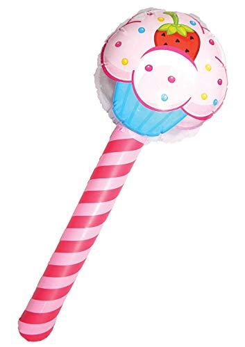 nder Aufblasbare Blow Up Cupcake Stick 76cm Kinder Geburtstagsparty Zubeh�r Eine Gr��e (Packung 1) ()