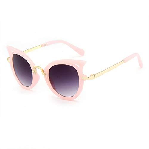CCGSDJ Cat Eye Kinder Sonnenbrillen Mädchen Sonnenbrille Jungen Outdoor Schutzbrille Frames Nette Kinder Brillen Uv400