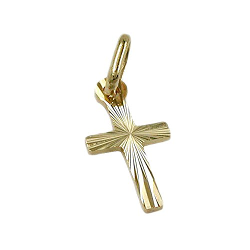 ass-333-gold-tiny-dangling-crucifix-cross-pendant-diamond-polished-ausgehauen-solid