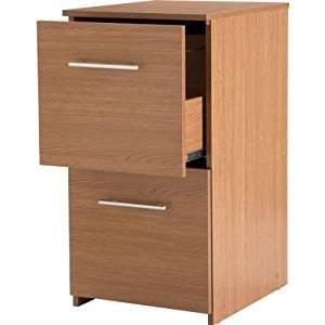 A2z Schnellspanner Home Solutions Home Office Zwei Schublade Kontingent Aktenschrank–Cherry Eiche