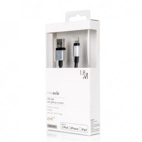 Innerexile Zynk Cavo USB con Connettore Lightning per Dispositivi Apple, Oro/Bianco