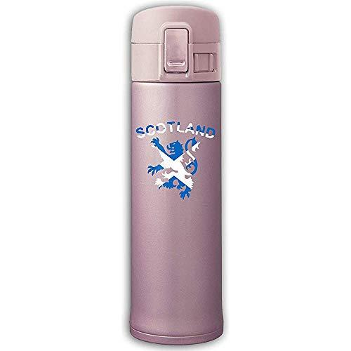 Edelstahl-Saugflasche Lion Rampant Scotland Scottish Auslaufsicherer Saugnapf Mit Sprungdeckel Rosa