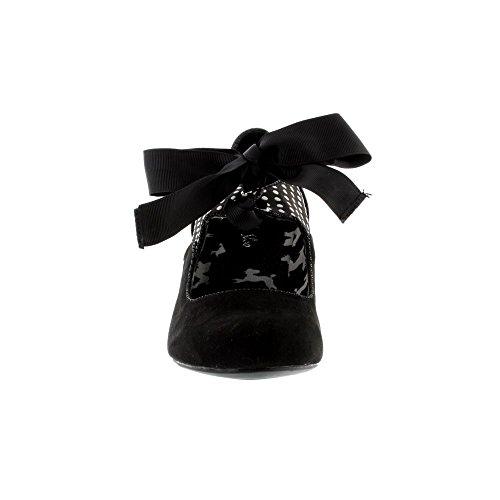 Ruby Shoo Damen Pumps Helena Polka Dot Schleifen Schuhe Geschlossen Black