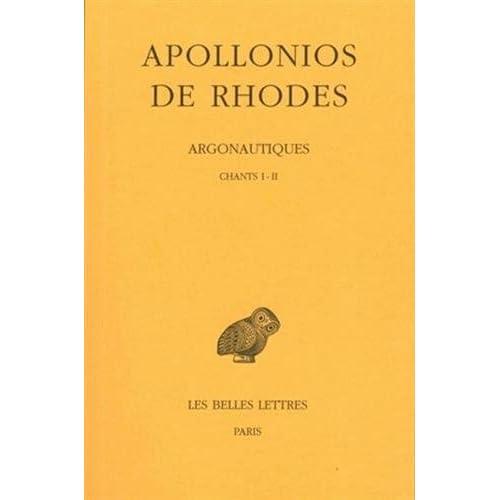 Argonautiques, tome 1, chants I-II, 2e tirage