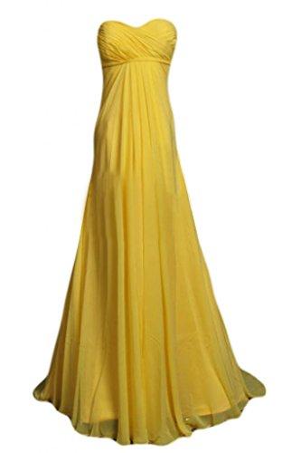 Victory bridal cœur en chiffon élégante abendkleider promkleider ballkleider brautjungfernkleider Or
