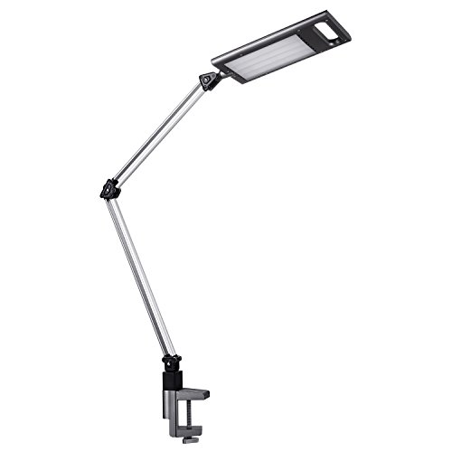 LED Schreibtischlampe, Aglaia Tischleuchte / Klemmleuchte / mit Metallschwinge (3 Helligkeitsstufen, Touch Control, Augenschutz) Verstellbarer Architektenarbeitsplatz / Büroleuchte