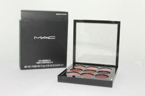 MAC Eye Shadow X 9 Palette - Burgundy Times Nine NIB Guaranteed Authentic by M.A.C