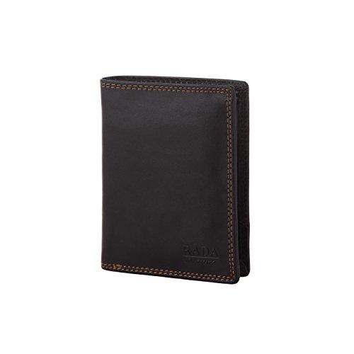 Rada Nature Herren Geldbörse aus echtem Leder, Kleiner Geldbeutel für Männer im Hochformat, Portemonnaie