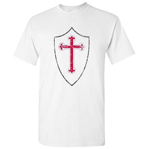 e0b09e4e HAPPEN Ugp Campus Apparel Knights Templar Men's T-Shirt Basic Cotton Street  Wear