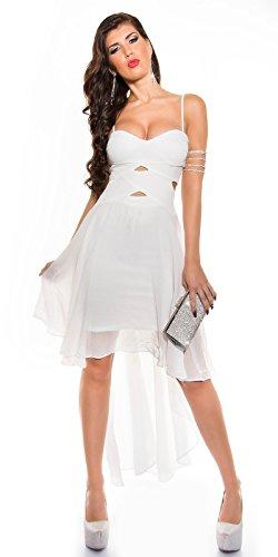 In-Stylefashion - Robe - Dos nu - Femme blanc Weiß M Weiß