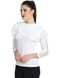 c3aba456429c3 DIMPY GARMENTS Women s Crepe Flower Design Top
