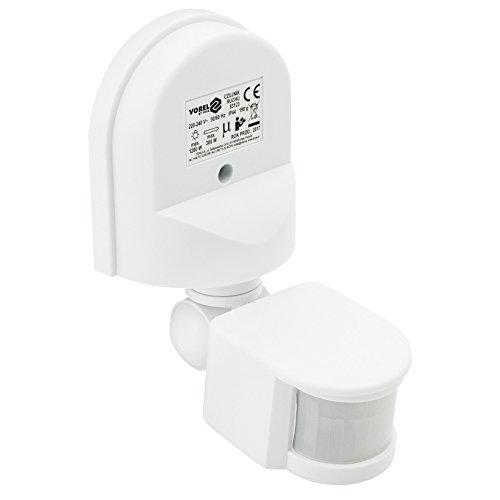 Vorel Infrarot Bewegungsmelder 180 Grad, IP44, weiß, Außenbereich Innenbereich Infrarotsensor Bewegungssensor (Licht Sie Ändern Schalter Wand)