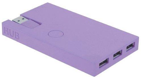 Lexon USB-Hub & Kartenleser Buro, lila (Usb-hub-lila)