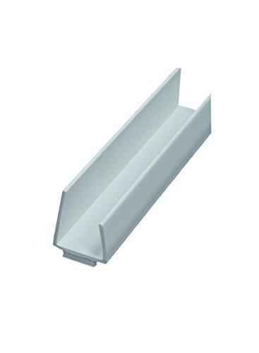 40 x PVC Einfassprofil ungleichschenklich mit Schattenfuge 250 cm = 100 lfdm