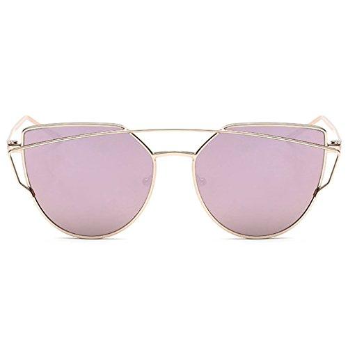 QHGstore La mujer de las se?oras de moda las gafas de sol del metal de