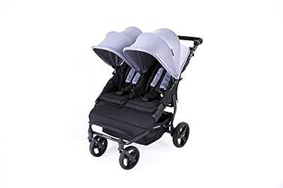 Baby Monsters Silla Gemelar Easy Twin 2 Color heather Grey ( Gris marengo ) + REGALO de DOS mantas