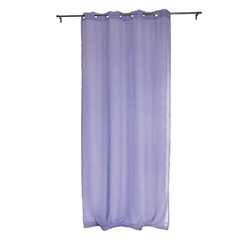 Gogostyle tenda per interni ad occhielli mod. botero,colore lilla - mis. 140 x 280 cm - trasparente - tessuto tinta unita dolly