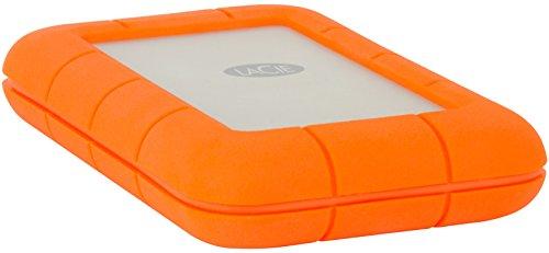 LaCie STFS4000800 Thunderbolt 4 TB Externe robuste Festplatte (6,4 cm (2,5 Zoll) Rugged, Staub-, Stoss- und Spritzwasser- geschützt, Thunderbolt und USB-C)
